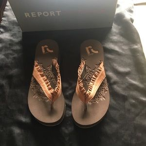 Report Footwear Brown Sandals Size 7 New in Box
